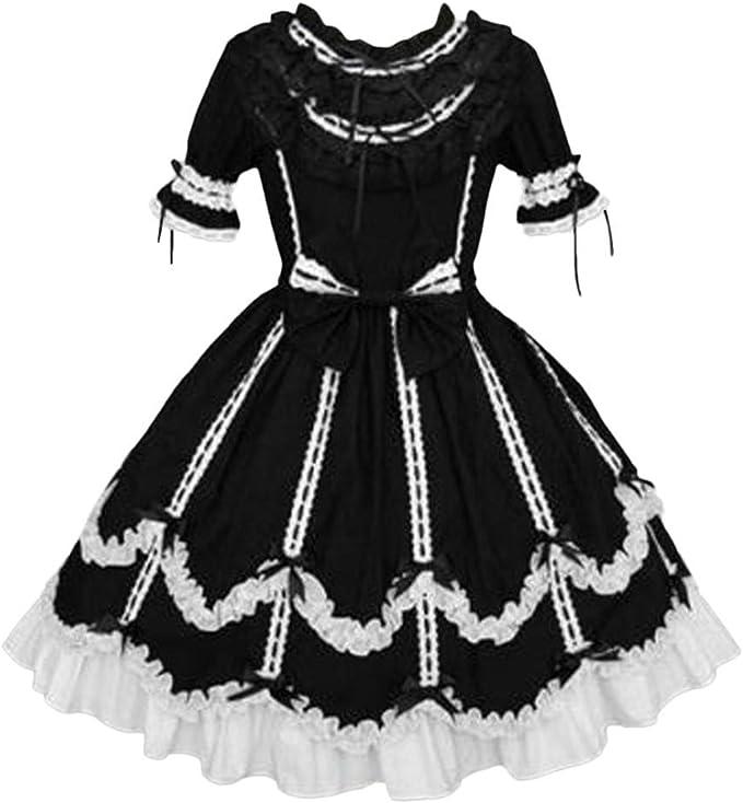 Vestito Medievale Donna Vintage Abito Lungo Cosplay Costume Partito Abito da Sera Carnevale Festa Dress NUSGEAR Vestito Donna Elegante