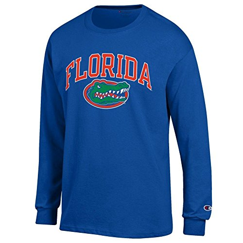 Elite Fan Shop Florida Gators Long Sleeve Tshirt Arch Royal - L