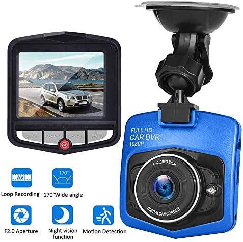 ダッシュカム、フルHD 1080Pビデオレコーダー前面と背面ビューのバックアップカメラナイトビジョン、ループ・レコーディング、駐車場モニター、Gセンサー、170°ワイドアングル,ブルー