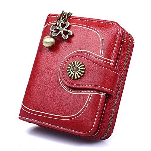 Coopay Monedero pequeño compacto Mini billetera de cuero PU para mujer, Regalo de niña adolescente, Titular inteligente…