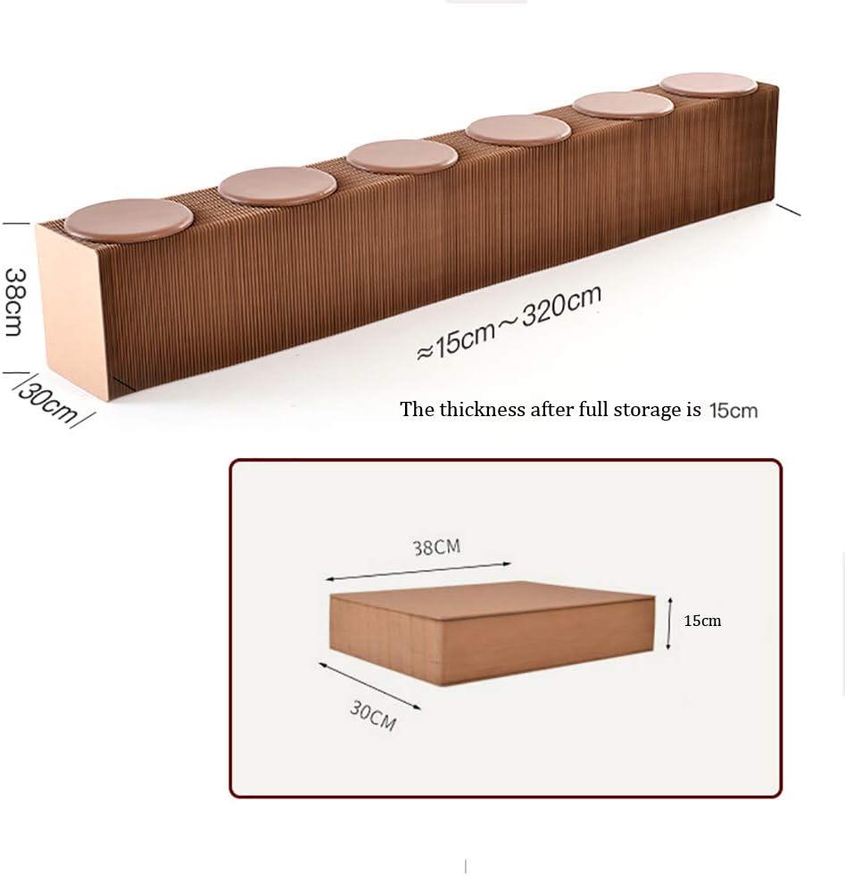 LR@WY Folding Kraft Paper Sofa mit 6 PU Kissen, einfache Montage Platzsparend - Stilvolle Stuhl für Heim, Schule, Dorm, Hexagonal Wabenstruktur,Schwarz Black
