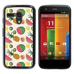 For Motorola Moto G1 / X1032 Case , Pineapple Weed Fruit Pattern - Diseño Patrón Teléfono Caso Cubierta Case Bumper Duro Protección Case Cover Funda