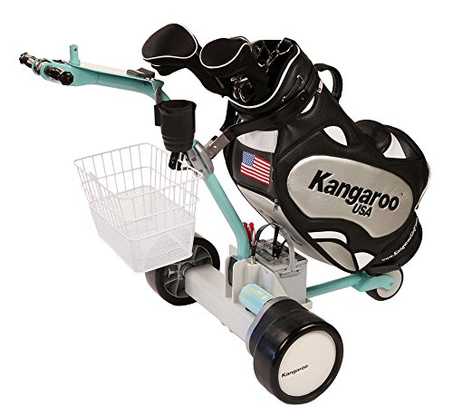 Kangaroo Model 5 Electric Golf Cart with Hands-On Steering (Aqua color)