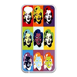 DIY Personalized Customized Printing Marilyn Monroe Hard Plastic Back Case Cover Skin for Apple iPhone 4 4S AB337854