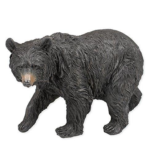 Black Bear Walking 9.5 x 5 x 6.5 Inch Resin Crafted Tabletop Figurine