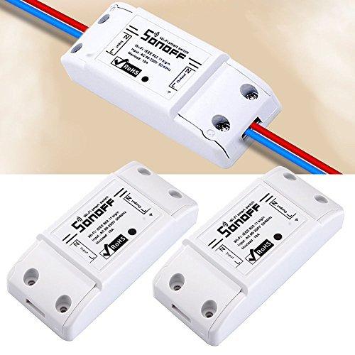 2pcs Sonoff - ITEAD WiFi Wireless Smart Switch Module ABS Sh