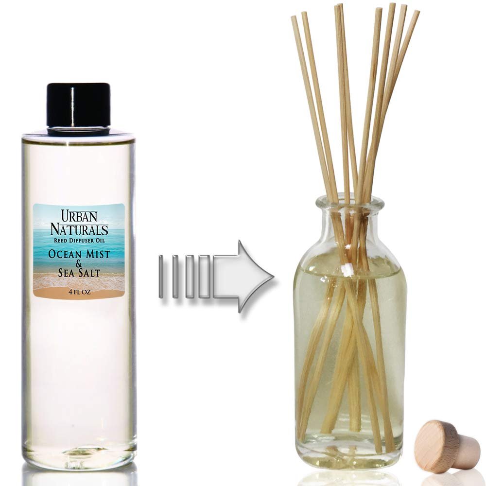 Urban Naturals Ocean Mist & Sea Salt Scented Oil Reed Diffuser Refill   Includes a Free Set of Reed Sticks! 4 oz. by Urban Naturals (Image #2)