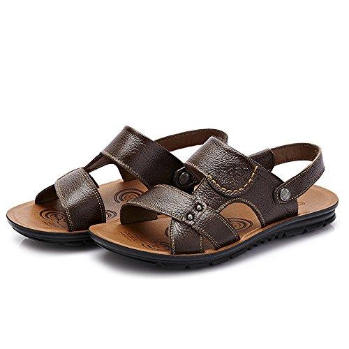 Para Verano Sandalias Ajustables Al Zapatos Brown Calzado Hombres Transpirable Abierto Cómodos Playa Libre De De Aire snfgoij Confort Deportes 541wZ0x5n