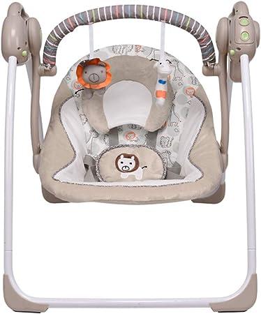 La mecedora para bebés está hecha de tela suave y cómoda. Es fácil de limpiar, de montar y de desmon