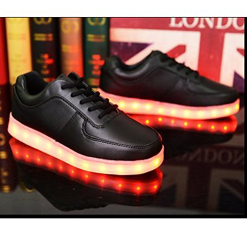 (Present:small towel)JUNGLEST® 7 Color Unisex Male Female USB Charge LED Indicators Bright Light Shoes Sneakers Black dvKPSApyQy
