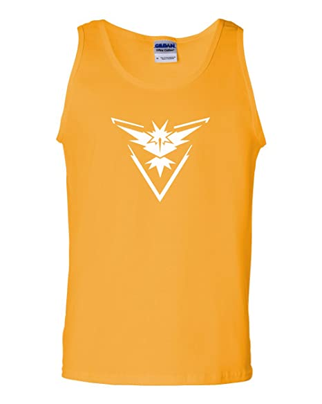 c238d3c3 Pokemon Go Gym Team Instinct Yellow Mens Tank Top Yellow X Large. Roll over  image to zoom in. Custom Apparel R Us