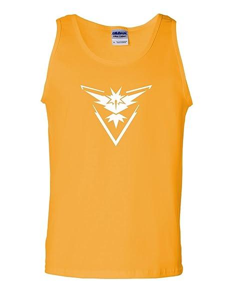 0579dc7f Amazon.com: Pokemon Go Gym Team Instinct Yellow Mens Tank Top Yellow ...
