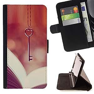- Queen Pattern FOR Apple Iphone 5C /La identificaci????n del cr????dito ranuras para tarjetas tir????n de la caja Cartera de cuero cubie - love key heart book reading vignette -