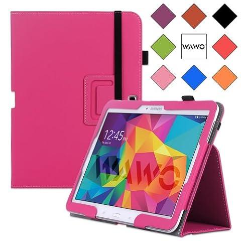 WAWO Samsung Galaxy Tab 4 10.1 Inch Tablet Smart Cover Creative Folio Case (Pink) (Galaxy 4g Lte Tablet)