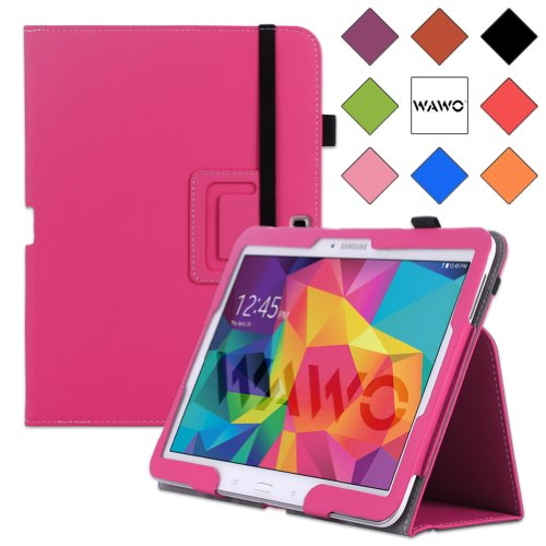 WAWO Samsung Galaxy Tab 4 10.1 Inch Tablet Smart Cover Creative Folio Case (Pink)