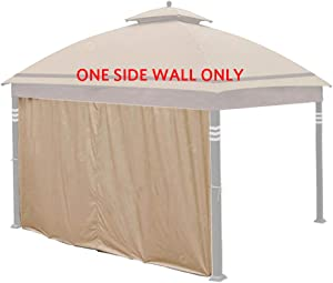Hofzelt Gazebo Universal 10-ft Replacement Curtain Side Wall Privacy Panel (One Side Only), Beige