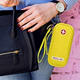 EpiPen Carrying Medical Case - Yellow Insulated