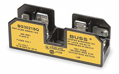 1-Pole Industrial Fuse Block, AC: 600VAC, DC: 170VDC, 20A, Series SC by Eaton Bussmann