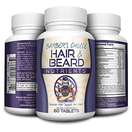Barber's Choice: Hair Growth Vitamins for Men - Hair and Beard Growth Supplement - Beard Vitamins - Beard Supplement