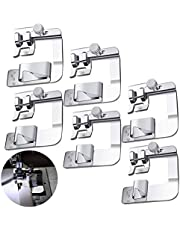 6 Sizes Wide Rolled Hem Presser Foot Sewing Machine Presser Foot Hemmer Foot Set ((3/8 Inch, 4/8 Inch, 5/8 Inch, 6/8 Inch, 8/8 Inch, 8/8 Inch) Fit for Most Low Shank Sewing Machines, 6 Pack