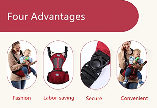 Baabyoo Front Doll Slings Backpack Baby Carrier Multifunctional Ventilating Infant Toddler Carriers Ergonomic Baby & Child Carrier (Purple)