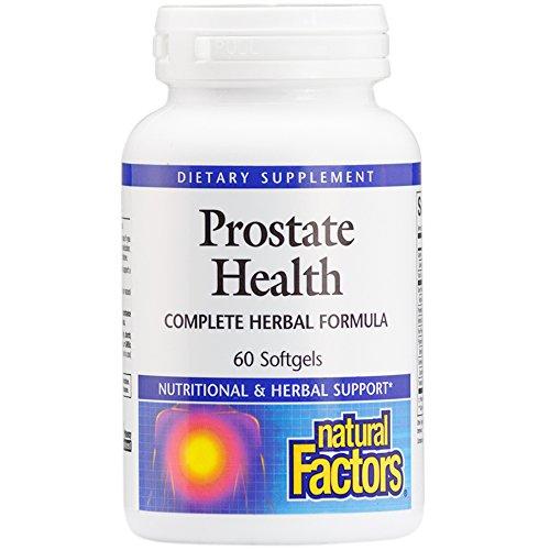 Natural Factors – Prostate Health Formula, Complete Herbal Formula, 60 Soft Gels