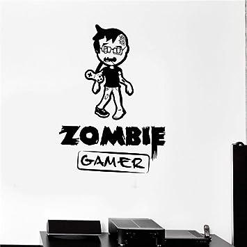 fashion children room Tatuajes de pared Zombie Gamer Videojuegos ...