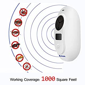 Ultrasonic Pest Repeller,Eklead Electronic Plug-In Repellent for Insect,Rodents,Mice and Spiders,Pest Control for Home,Basement,Barn,Shops,Humans & Pets Friendly with Adjustable Frequency