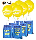 Game Party Gift Bags for Fortnite Party Gift Bags with Latex Balloons Set, Compatible Fortnite Birthday Party Supplies, Party Supply Drop Box For Kids Adults, Birthday Party Themed Party Supplies Favors- 12 PCS