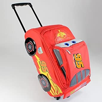 a61238ecbad1 Image Unavailable. Image not available for. Color  Disney Pixar Cars 2  Rolling Lightning McQueen Luggage Suitcase
