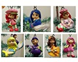Strawberry Shortcake 7 Piece Holiday Christmas Tree Ornament Set Featuring 2' Ornaments of Strawberry Shortcake, Custard, Lemon Meringue, Blueberry Muffin, Orange Blossom, Plum Pudding, and Raspberry Torte