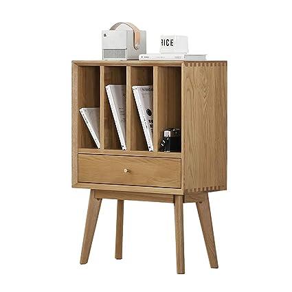 reputable site 9ba43 4337f Amazon.com : Mini Bookcase, Solid Wood Bookcase Simple White ...