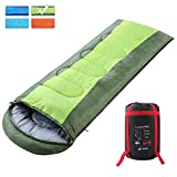 sleeping bag - SEMOO Envelope Sleeping Bags with Compression Bag - Green