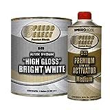 Speedokote High Gloss Bright White 2K Acrylic Urethane, 4:1 Gallon Kit, SMR-9710/1275