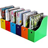 Evelots 6 Magazine/File Holders & Labels,Assorted Colors