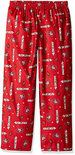 NFL San Francisco 49Ers Unisex Sleep Pant, Red, Youth 14