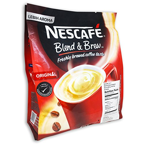 Packet 1 Mix (Nescafé 3 in 1 Instant Coffee Sticks ORIGINAL - Best Asian Coffee Imported from Nestle Malaysia (28 Sticks))
