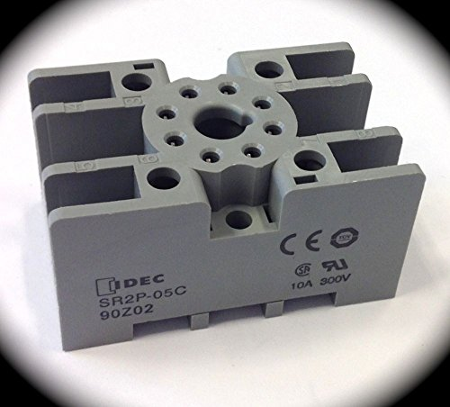 Pack of (10) Idec SR2P-05C 8 Pin Octal Relay Bases with Finger Safe Screw Terminals for DIN Rail (Octal Base)