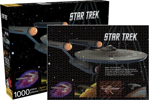 Aquarius Star Trek- Enterprise Puzzle (Star Puzzle Trek Jigsaw)