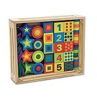 Melissa & Doug Cuentas de cordón de madera en una caja, Juguetes de desarrollo, Fácil de ensamblar, 27 cuentas y 2 cordones, 9.65 ″ H × 7.55 ″ An × 1.45 ″ L