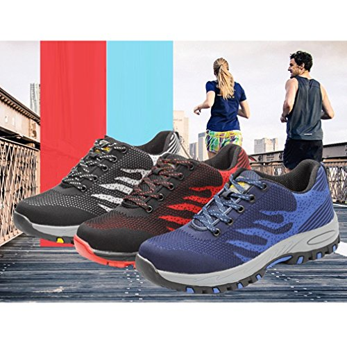 junkai Work Shoes Safety Shoes for Men Lady Trainers Hiker Casual Shoes Blue 4YQKkJ