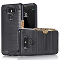 LG V20 Case,Berry Accessory Dual Layer Hard Silicone Rubber Hybrid Defender Armor Card Slot Holder [Slim Fit] Full Body Protective Cover for LG V20