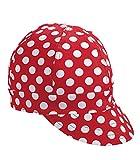 Mutual Industries 7321-0-0 Kromer Red/ White Dot Style Welder Cap, Cotton, Length 5'', Width 6''