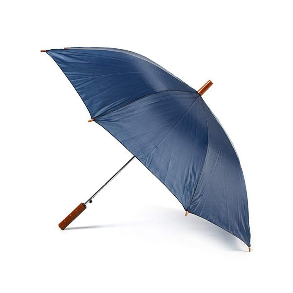 BLANC Emballage en vrac de 30 Jollybrolly Tout droit Parapluie léger avec ouverture automatique - Longueur de 65 cm, Portée de 90 cm - Manche droit effet bois - Hommes & Femmes