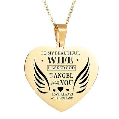 Amazon.com: LF - Collar de acero inoxidable para mujer ...