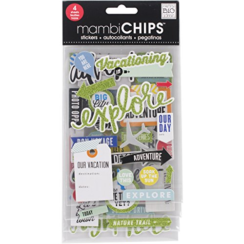 Me & My Big Ideas CBVX47 Chipboard Value Pack-Vacation -