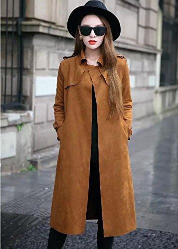 Revers v Trench de Coat daim manteau avec ceinture femme la XYLUCKY vdfgwv