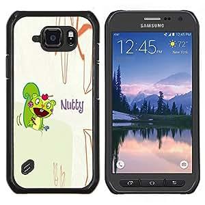 "Be-Star Único Patrón Plástico Duro Fundas Cover Cubre Hard Case Cover Para Samsung Galaxy S6 active / SM-G890 (NOT S6) ( Ardilla loco divertido dibujo Cita de dibujos animados"" )"