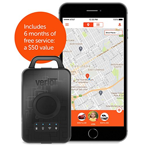 Veriot Venture Smart GPS Tracking Device. Best for Kids, Valuables, Employees and Fleets. AT&T 3G Coverage! Real Time locations, 6 MO FREE SERVICE LOWEST TOTAL COST OF OWNERSHIP. (1 Pack) by Veriot