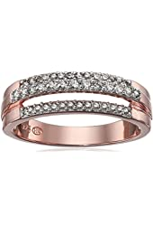 18k Rose Gold Over Sterling Silver Diamond Ring (1/3cttw, I-J Color, I2-I3 Clarity), Size 7